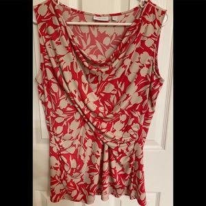 New York & Company Floral Tank Top Size Large EUC